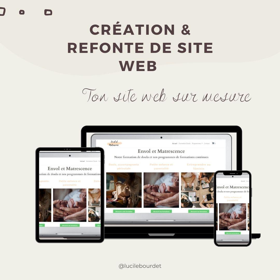 Création & refonte de site web sur mesure